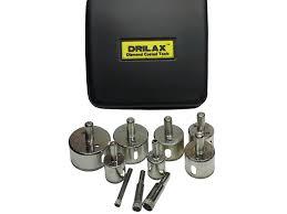 amazon com drilax u0026 8482 10 pcs diamond drill bit set hole saws