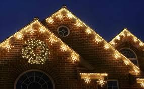 christmas white led christmas lights on houses ne wall outdoor
