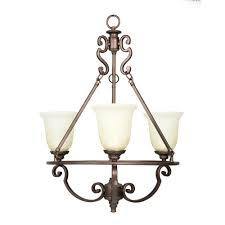 fairview 3 light heritage bronze chandelier 14701 the home depot
