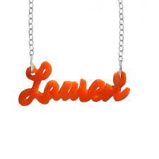 acrylic name necklace acrylic name necklace