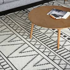 Modern Design Rug 100 Wool Kilim Carpet Geometric Bohemia Indian Rug Plaid Black