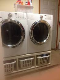 Build Washer Dryer Pedestal Washer And Dryer Pedestal Baskets Can Fit Underneath And Doors