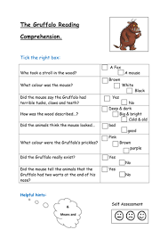the gruffalo reading comprehension by kayld teaching resources tes