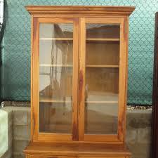 antique pine display cabinet bar cabinet