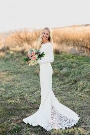 plain wedding dresses picture of plain wedding dress with a lace insert in the back of