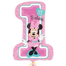 1st birthday anagram 19 x 28 inch minnie 1st birthday from category children