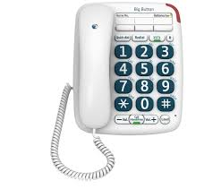 buy bt big button 200 corded phone free delivery currys
