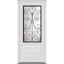 mmi door 37 5 in x 81 75 in camelia decorative glass 3 4 lite