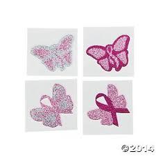 amazon com 2 dozen 24 pink ribbon glitter butterfly tattoos