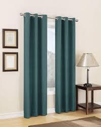 Dark Teal Curtain Panels Jaclyn Smith Dean Thermal Lined Grommet Window Panel Kmart