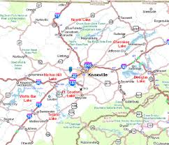 Map Tennessee Lakes In East Tennessee Map For Knoxville Tennessee And East