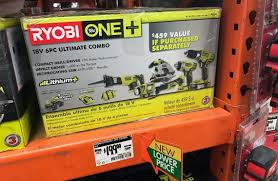 black friday toys r us home depot tool bench ryobi 6 tool ultimate combo kit only 199 00 at the home depot