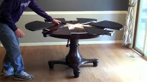 Round Expanding Dining Table by Furniture Expandable Dining Table For 10 Pringombo Home