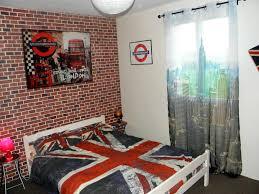 chambre a theme avec papier peint chambre ado gar on avec cuisine d coration chambre