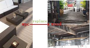 white antiseptic wood plastic composite decking waterproof