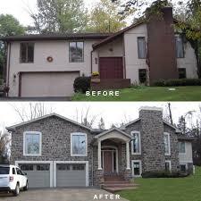 bi level bi level exterior remodeling make over extremely home remodel
