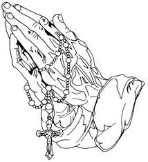 jesus hands praying with rosary tattoo clip art library