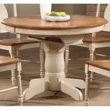 Two Tone Pedestal Dining Table Four Hands Cintra Extendable Dining Table From Hayneedle Com