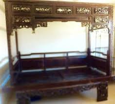 antique canopy bed exquisite antique chinese hand carved wood wedding opium canopy