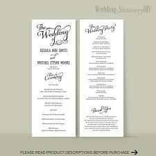 wedding programs diy wedding reception program templates 28 images wedding program