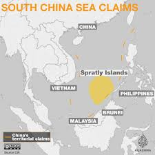 Us Navy Map Of Future America by No Legal Basis U0027 For China U0027s South China Sea Claims News From Al