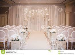 beautiful wedding ceremony design decoration elements stock photo