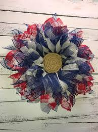 patriotic wreath 4th of july wreath memorial day wreath
