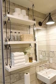 How To Decorate Bathroom Shelves Beautiful Decorating Ideas For Bathroom Shelves Contemporary