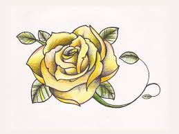 yellow rose tattoo thinking of having three roses surrounded by