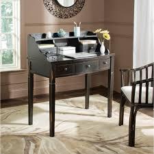Secretary Writing Desk by Safavieh Landon Distressed Black Desk Amh6516b The Home Depot