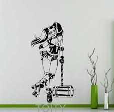 online get cheap teens decor aliexpress com alibaba group harley quinn wall decal roller derby dc marvel comics superhero vinyl sticker home interior decor teen room cool art mural
