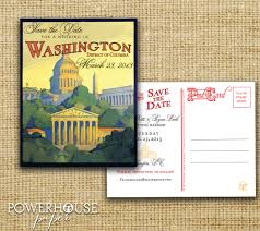 wedding invitations dc vintage washington dc postcard save the date