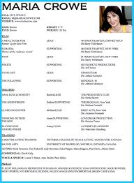theatre resume examples write an acting resume examples of resumes acting resume example good objective in delight labs