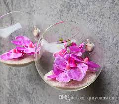 Decorative Glass Vases Half Circle Glass Vases Flower Pots Planters Wall Hanging Creative