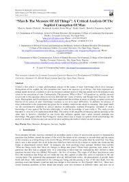 resume exles modern sophistry philosophy meaning man is the measure of all things a pdf download available