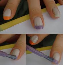 pastel french manicure adjusting beauty