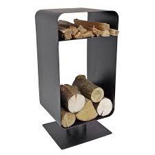 contemporary black log and kindling store log baskets u0026 log