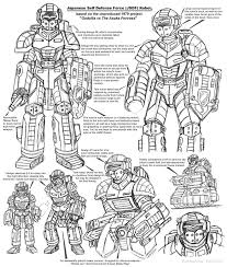 asuka fortress robot sketches by enshohma on deviantart