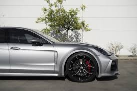 new porsche 4 door new porsche panamera wears techart widebody kit and forgiato