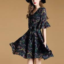 liva 2017 summer new country style dress women u0027s printed