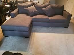 egan sofa w reversible chaise egan ii cement sofa w reversible chaise living spaces furniture