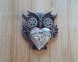 steampunk owl necklace images Steampunk owl etsy jpg