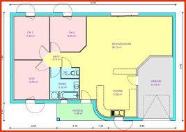 plan plain pied 3 chambres plan de maison plain pied gratuit 3 chambres best of plan de maison