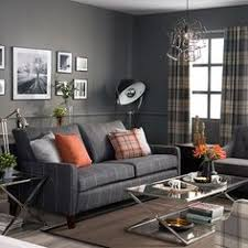 Curtains To Go With Grey Sofa This Dusky Grey Purple Sofa Contrasts With Lime Green And