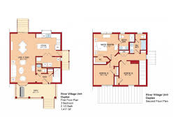 Duplex Blueprints Floor Plans The Villages At Belvoir