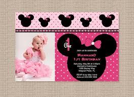 free printable minnie mouse 1st birthday invitations drevio