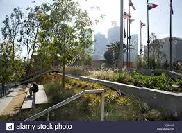 Urban Garden Los Angeles Garden In The Downtown Los Angeles Civic Center Stock Photo