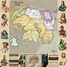 Elder Scrolls Map The World Of Elder Scrolls By Bragi Mimir On Deviantart