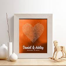 7th anniversary gifts for him personalized 7th or 22nd copper anniversary gift for him