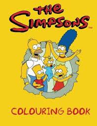 simpsons colouring book simpsons colouring book
